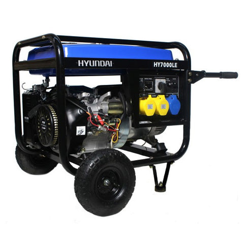 Hyundai Electric Start Open Frame Petrol Generator HY7000LEk
