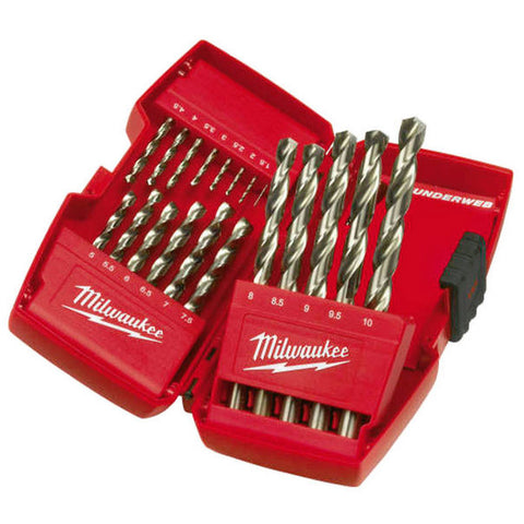 Milwaukee Thunderweb Metric Drill Bit Set HSS 19 Piece 4932 3523 74