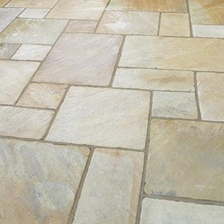 Natural Stone Paving Slabs Autumn Brown