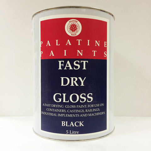 Palatine Paint Fast Dry Gloss Black 5 Litre