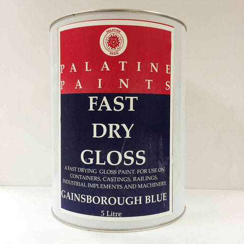 Palatine Paint Fast Dry Gloss Gainsborough Blue 5 Litre