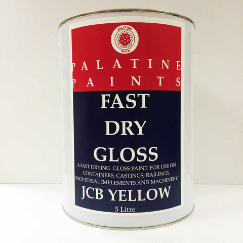Palatine Paint Fast Dry Gloss JCB Yellow 5 Litre