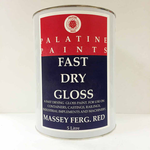 Palatine Paint Fast Dry Gloss Massey Ferg Red 5 Litre
