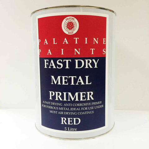 Palatine Paint Fast Dry Metal Primer Red 5 Litre