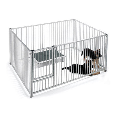 Puppy Pen Front Panel Galv with Door 1.5mtr x 1.0mtr