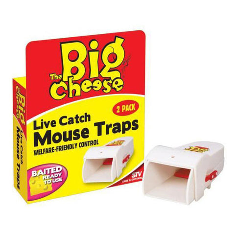 STV Big Cheese Live Catch Mouse Traps Twinpack STV155