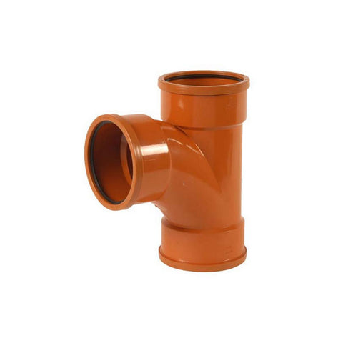 110mm equal junction TRIPLE socket 90 deg