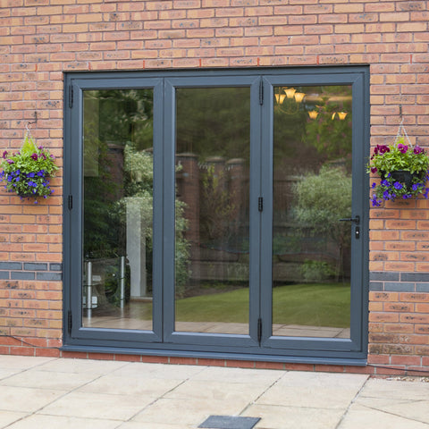 UPVC  Bi-Folding Doors Grey
