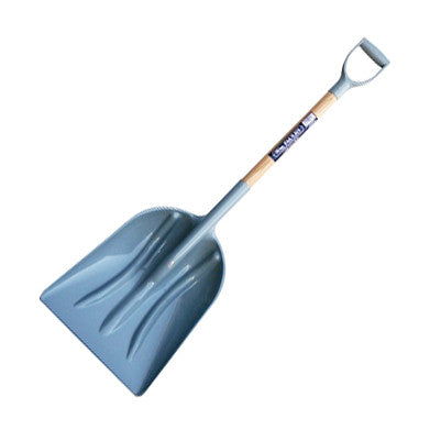 WM Faulks PP Grain Shovel with Hardwood Shaft Grey