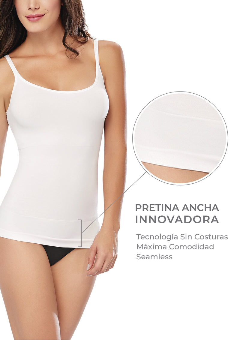 PERFECT FIT Camiseta Faja  Pabilo  Blanca