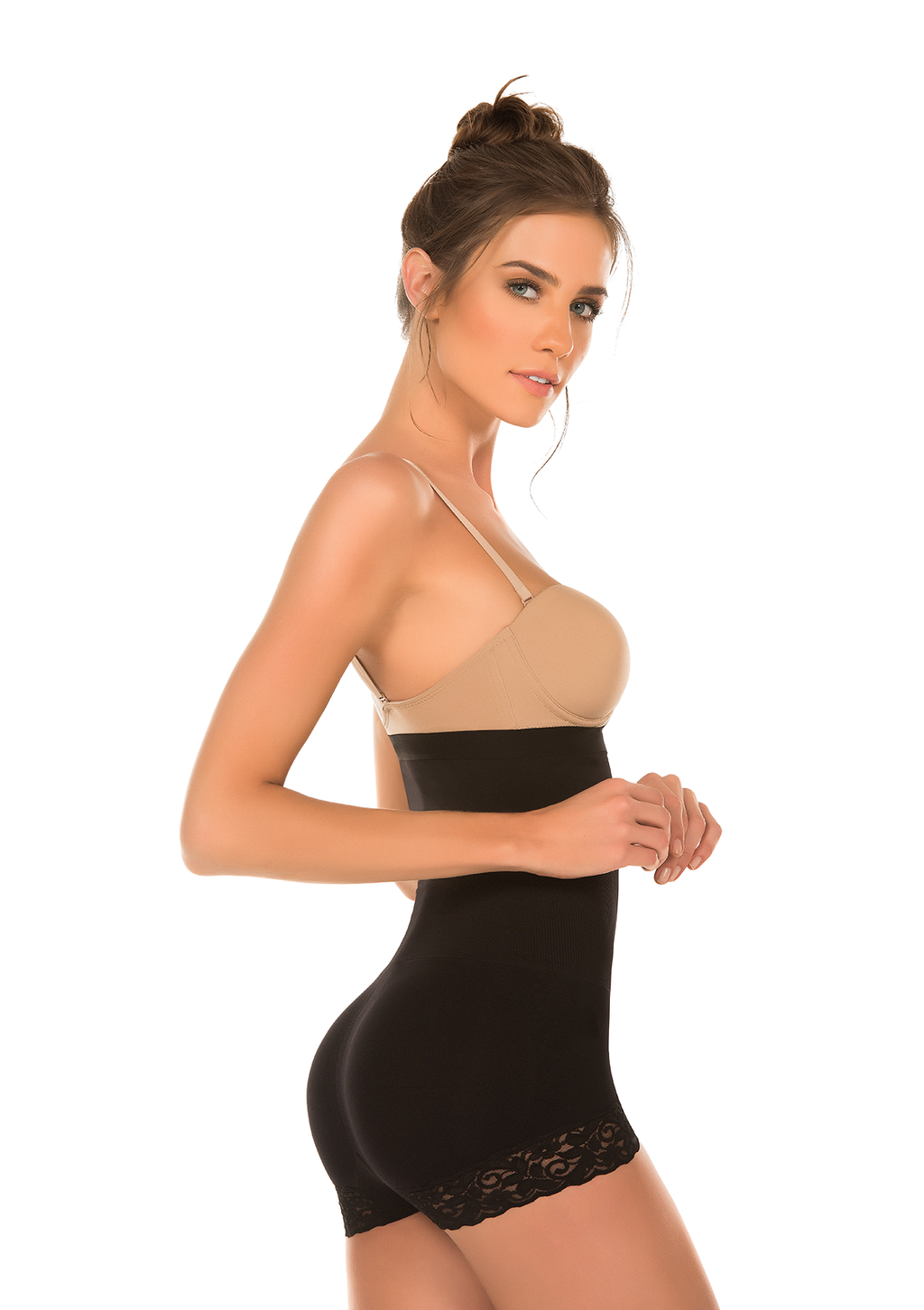 Bóxer Alto Reductor Tipo Body  Seamless Color Negro - evoZZe