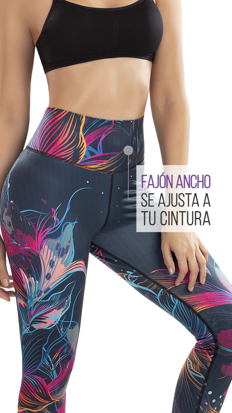 Calza Reductora POWER SLIM Flores Neon Ref.: 7005e