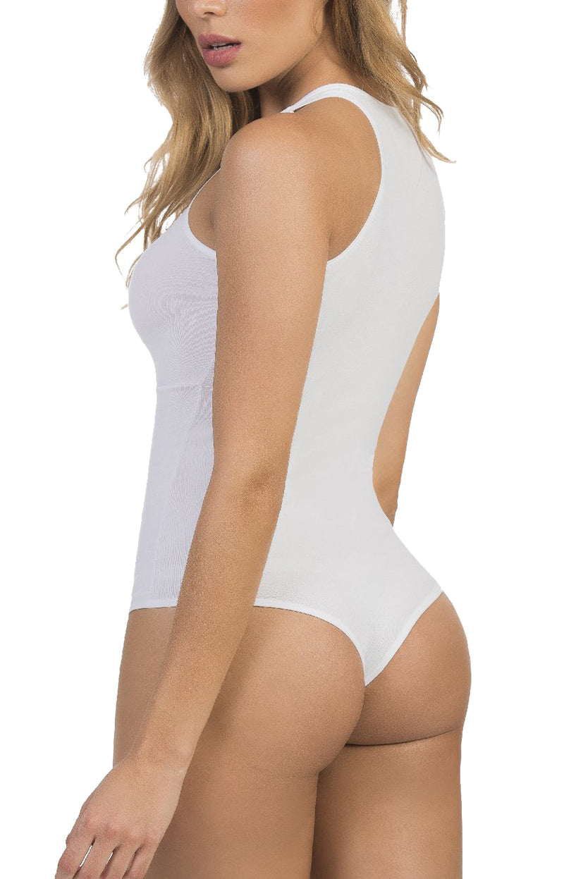 Body con Transparencias Amelie Blanco