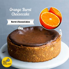 "Orange Burnt Cheesecake 9"" - Cheesecake - Cake Tella - - Eat Cake Today - Birthday Cake Delivery - KL/PJ/Malaysia"
