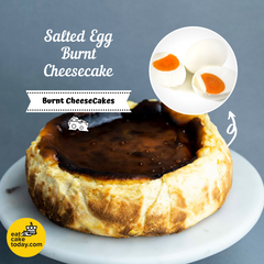 "Salted Egg Burnt Cheesecake 9"" - Cheesecakes - Eat Cake Today - Birthday Cake Delivery - KL/PJ/Malaysia"