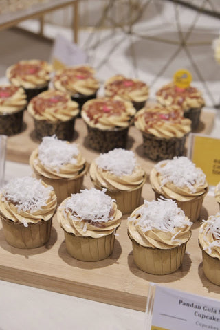pandan gula melaka cupcakes-eat cake today-the cake show-media event