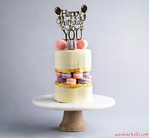 eat cake today-the cake show-cake trends 2020-macarons fault line cake