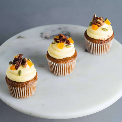 12 pieces of Carrot Pecan Cupcake - Cupcakes - Huckleberry Food & Fare - - Eat Cake Today - Birthday Cake Delivery - KL/PJ/Malaysia