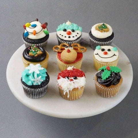 12 pieces of Cheerful Christmas Cupcakes - Cupcakes - Huckleberry Food & Fare - - Eat Cake Today - Birthday Cake Delivery - KL/PJ/Malaysia