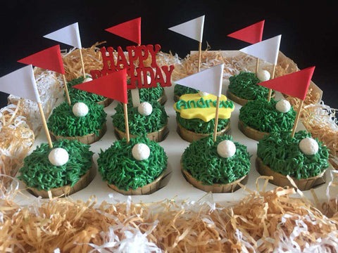 12 pieces of Golf Cupcakes - Customized Cakes - B'Sweetbites - - Eat Cake Today - Birthday Cake Delivery - KL/PJ/Malaysia