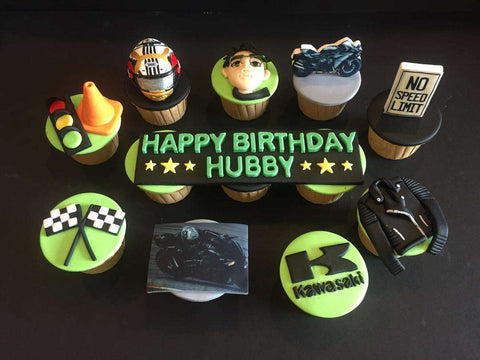12 pieces of Kawasaki Cupcakes - Customized Cakes - B'Sweetbites - - Eat Cake Today - Birthday Cake Delivery - KL/PJ/Malaysia