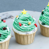 16 Pieces of Christmas Tree Cupcake - Cupcakes - Kinmen Patisserie - - Eat Cake Today - Birthday Cake Delivery - KL/PJ/Malaysia