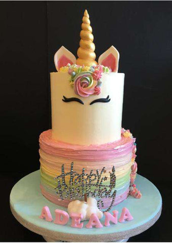 2 tiers Rainbow Unicorn Cake - Customized Cakes - B'Sweetbites - - Eat Cake Today - Birthday Cake Delivery - KL/PJ/Malaysia