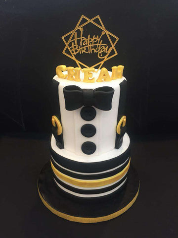 2 tiers Suit Cake - Customized Cakes - B'Sweetbites - - Eat Cake Today - Birthday Cake Delivery - KL/PJ/Malaysia