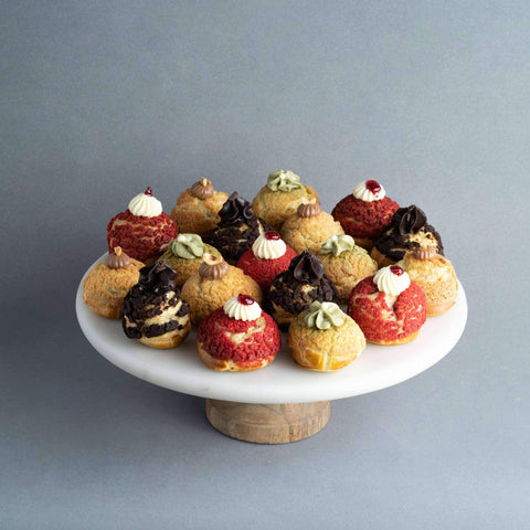 20 pieces Assorted Choux - Pastry - Petiteserie Desserts - - - - Eat Cake Today - Birthday Cake Delivery - KL/PJ/Malaysia