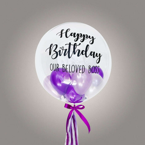 "24"" Deco Bubble Balloon (Incl. Helium) - Add On - Party Perfect - - Eat Cake Today - Birthday Cake Delivery - KL/PJ/Malaysia"