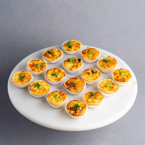 25 pieces Mini Assorted Quiche - Pastry - Petiteserie Desserts - - - - Eat Cake Today - Birthday Cake Delivery - KL/PJ/Malaysia