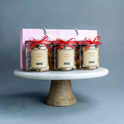 3 Jars of Decadent Cookies - Cookies - Baker's Art - - Eat Cake Today - Birthday Cake Delivery - KL/PJ/Malaysia