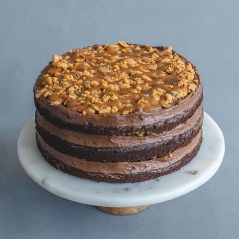 "3-layer Chocolate Salted Caramel Cookie Cake 10"" - Salted Caramel Chocolate Cake - Little Tee Cakes - - Eat Cake Today - Birthday Cake Delivery - KL/PJ/Malaysia"