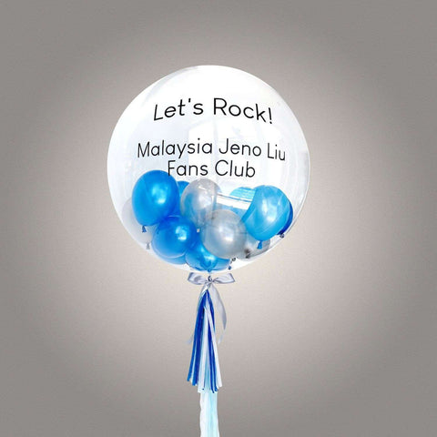 "36"" Deco Bubble Balloon (Incl. Helium) - Add On - Party Perfect - - Eat Cake Today - Birthday Cake Delivery - KL/PJ/Malaysia"