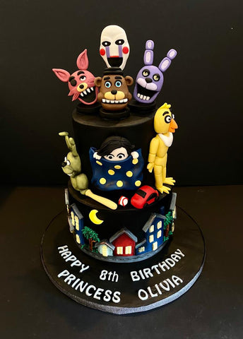 5 Nights at Freddy's Cake - Customized Cakes - B'Sweetbites - - Eat Cake Today - Birthday Cake Delivery - KL/PJ/Malaysia