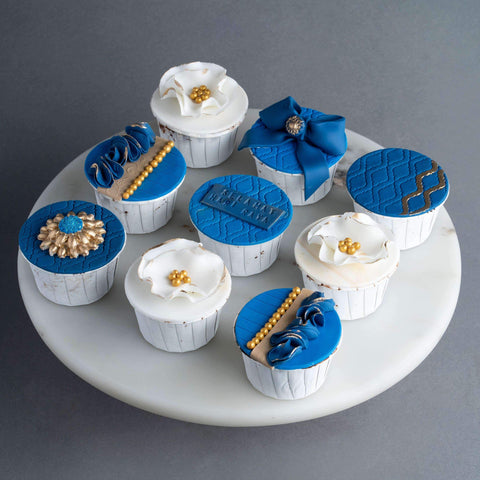 9 pieces of Sapphire Raya Luxe Cupcakes - Cupcakes - Little Collins - - - - Eat Cake Today - Birthday Cake Delivery - KL/PJ/Malaysia