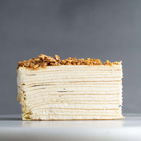 "Almond Salted Caramel Mille Crepe 9"" - Mille Crepe - Food Foundry - - Eat Cake Today - Birthday Cake Delivery - KL/PJ/Malaysia"