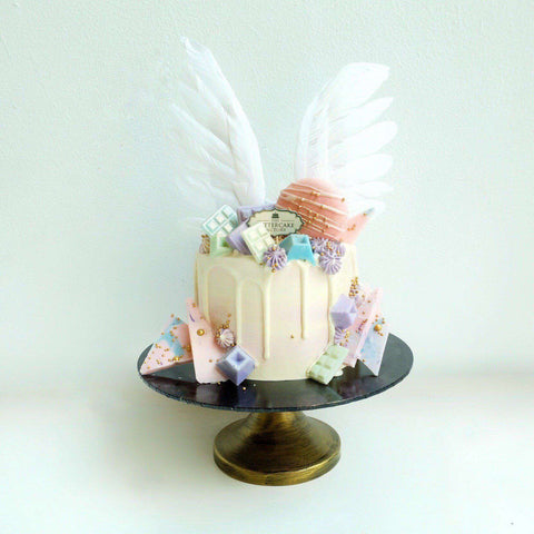 Angel Wing Belgian Chocolate Cake 5'' - Workshops - The Buttercake Factory - - Eat Cake Today - Birthday Cake Delivery - KL/PJ/Malaysia