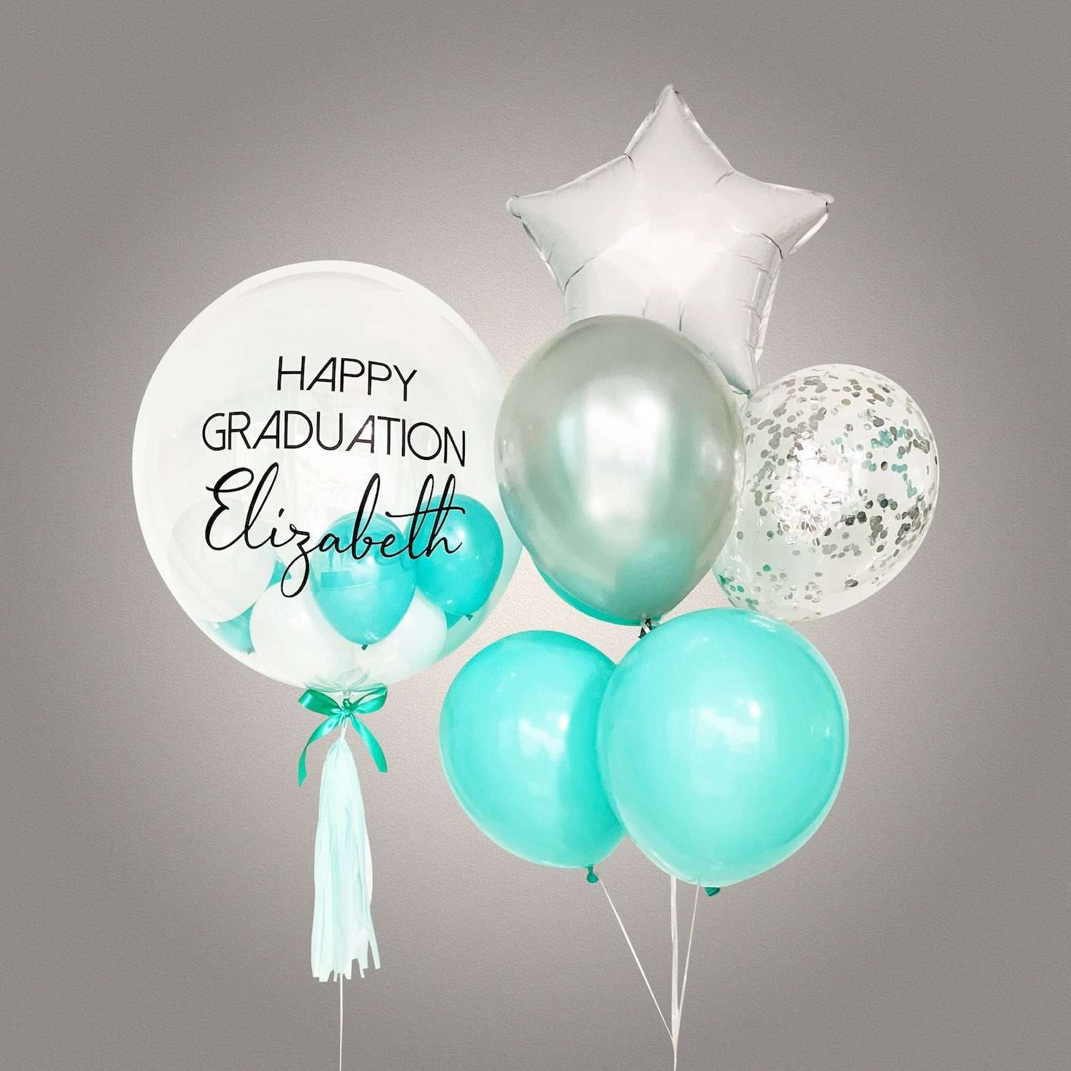 Aquamarine Bubble Balloon Bouquet Eat Cake Today Birthday Cake Delivery Kl Pj Malaysia