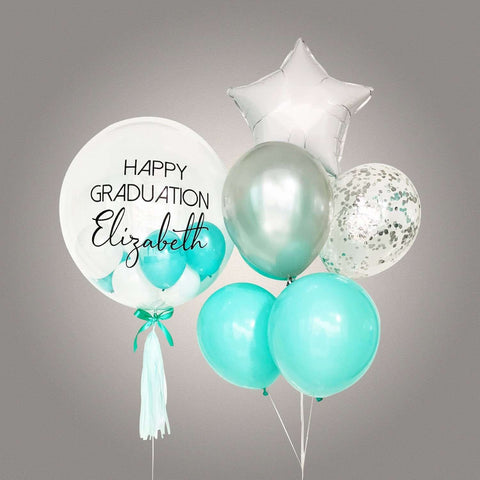 Aquamarine Bubble Balloon Bouquet - Add On - Party Perfect - - Eat Cake Today - Birthday Cake Delivery - KL/PJ/Malaysia