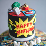 "Avengers Cake 5"" - Designer Cake - B'Sweetbites - - Eat Cake Today - Birthday Cake Delivery - KL/PJ/Malaysia"