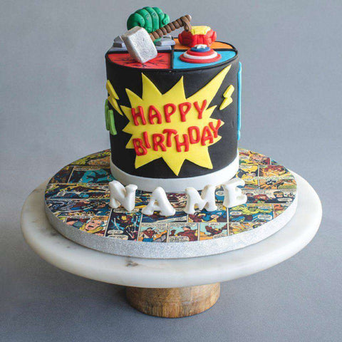 "Avengers Cake 5"" - Designer Cake - B'Sweetbites - - - - Eat Cake Today - Birthday Cake Delivery - KL/PJ/Malaysia"