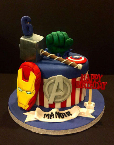 Avengers Cake 7 inch - Customized Cakes - B'Sweetbites - - Eat Cake Today - Birthday Cake Delivery - KL/PJ/Malaysia