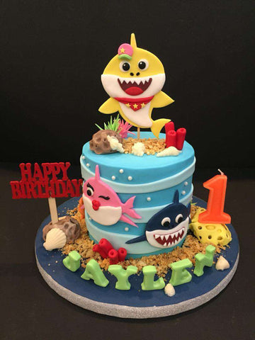 Baby Shark Cake 4.5 inch - Customized Cakes - B'Sweetbites - - Eat Cake Today - Birthday Cake Delivery - KL/PJ/Malaysia
