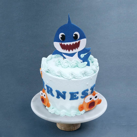 "Baby Shark Cake 6"" - Designer Cakes - Sweet Creations - - Eat Cake Today - Birthday Cake Delivery - KL/PJ/Malaysia"