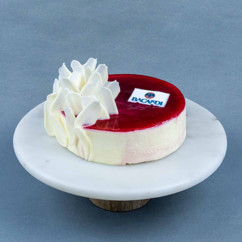 "Bacardi Rum White Chocolate Raspberry Raisin Cake 7"" - Mousse Cakes - Cheers2Cheers - - Eat Cake Today - Birthday Cake Delivery - KL/PJ/Malaysia"