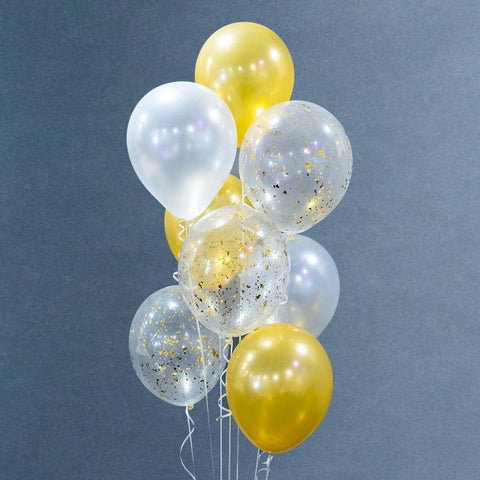 Balloon Bouquet - Balloons - Happy Balloon Shop - Gold - Eat Cake Today - Birthday Cake Delivery - KL/PJ/Malaysia