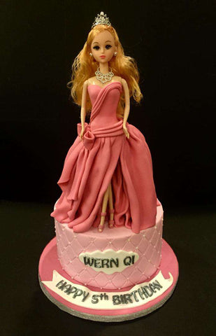 Barbie Cake 7 inch - Customized Cakes - B'Sweetbites - - Eat Cake Today - Birthday Cake Delivery - KL/PJ/Malaysia