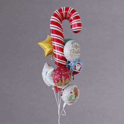 Basic Christmas Balloon Bouquet - Add On - Party Perfect - - Eat Cake Today - Birthday Cake Delivery - KL/PJ/Malaysia