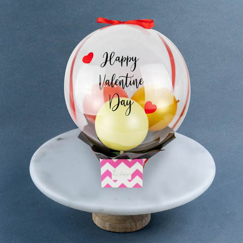 Be My Valentine Balloon Box - Flowers - Bull & Rabbit - - Eat Cake Today - Birthday Cake Delivery - KL/PJ/Malaysia